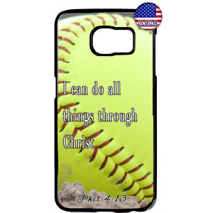 Baseball Christian Bible Verse Jesus Christ Rubber Case Cover For Samsung Galaxy