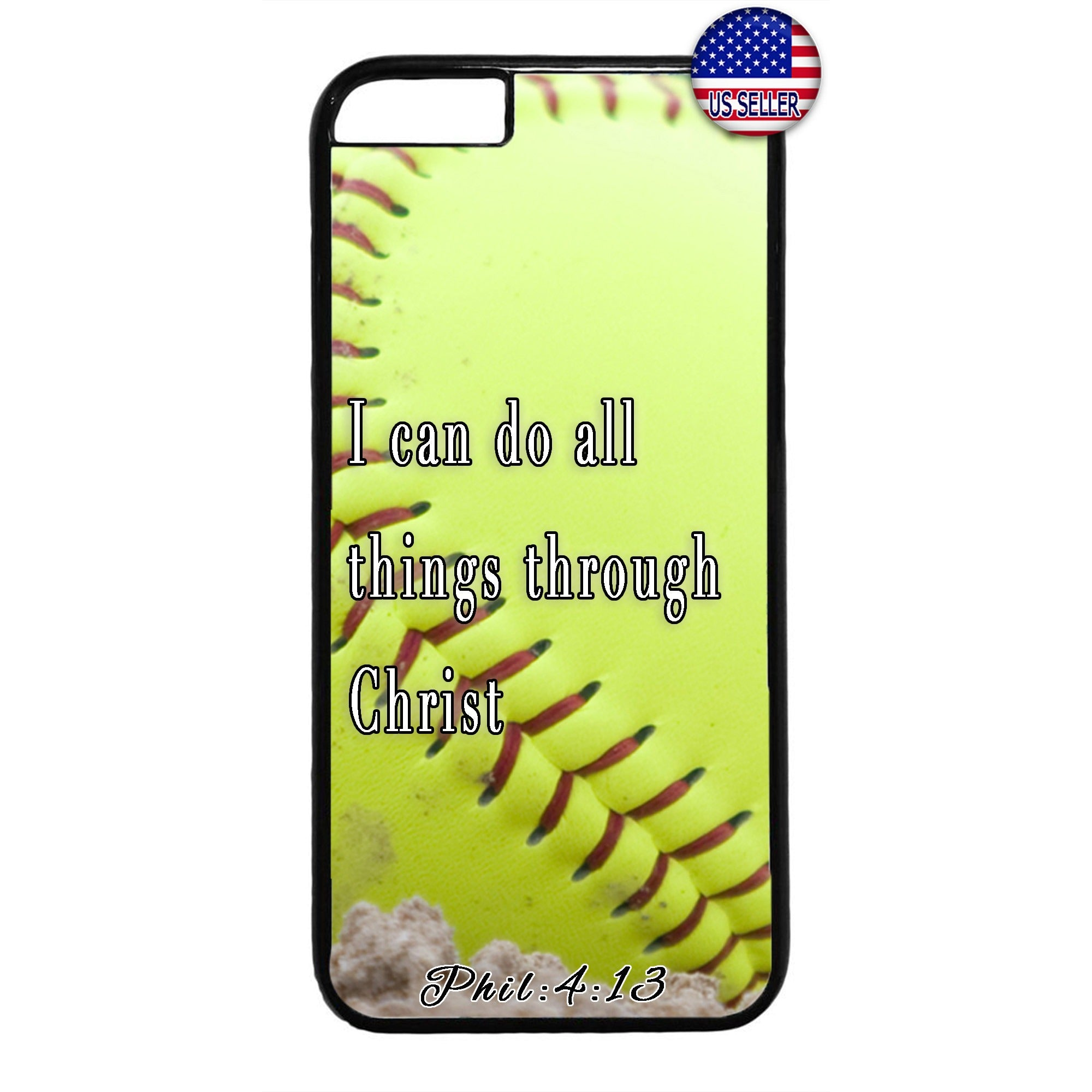 Baseball Christian Bible Verse Jesus Christ Rubber Case Cover For Iphone