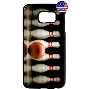 Bowling Ball & Pins Strike Rubber Case Cover For Samsung Galaxy