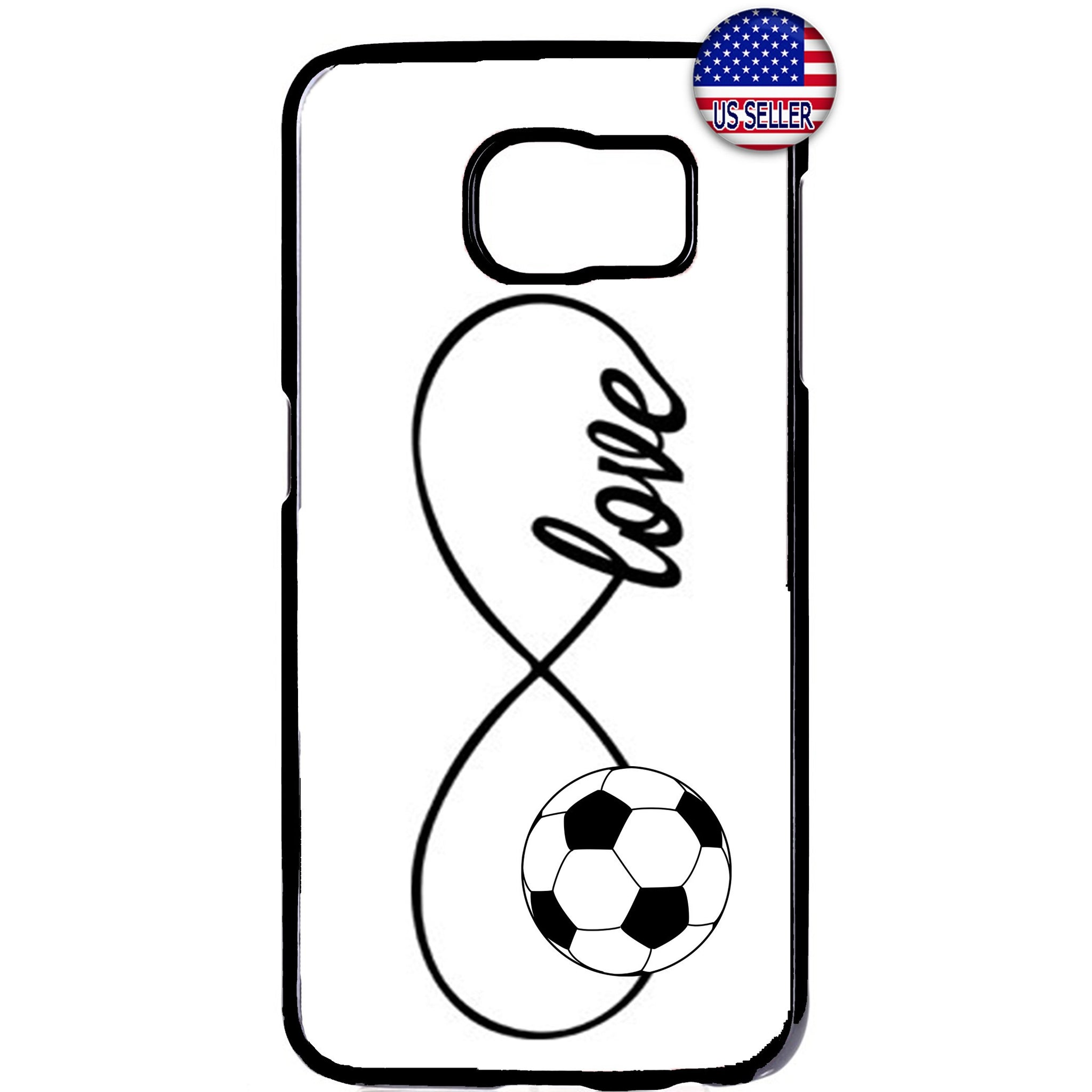 White Infinite Forever Soccer Sports Rubber Case Cover For Samsung Galaxy