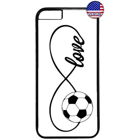 White Infinite Forever Soccer Sports Rubber Case Cover For Iphone