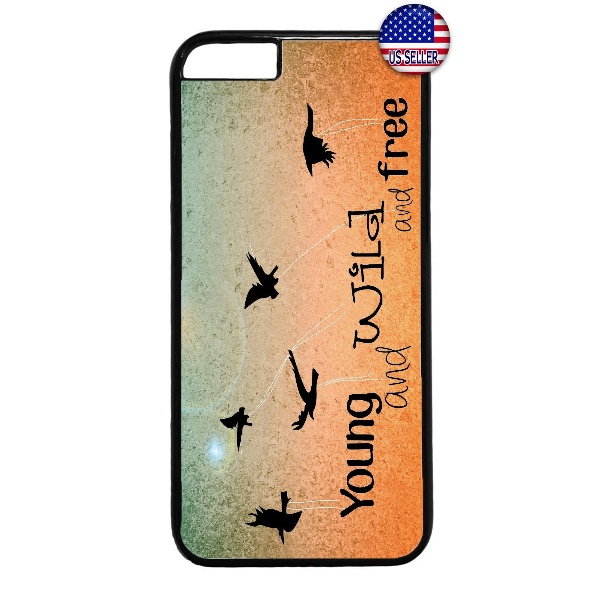 Young & Wild Birds Sun Rubber Case Cover For Iphone