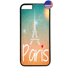 Paris France Love Eiffel Tower French Rubber Case Cover For Iphone