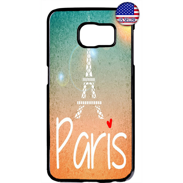 Paris France Love Eiffel Tower French Rubber Case Cover For Samsung Galaxy