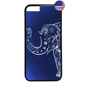 Floral Elephant Design Wild Africa Rubber Case Cover For Iphone
