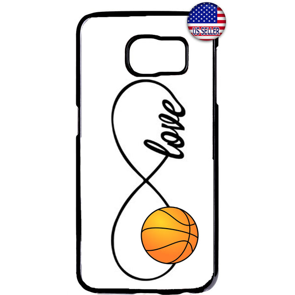 White Infinite Forever Basketball Sports Rubber Case Cover For Samsung Galaxy
