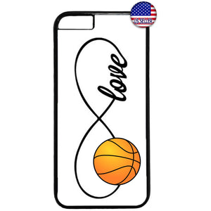 White Infinite Forever Basketball Sports Rubber Case Cover For Iphone