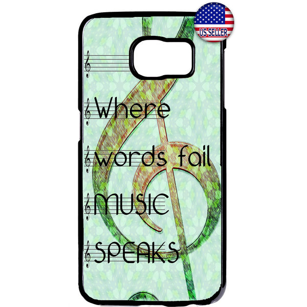 Music Speaks Clef Treble Rubber Case Cover For Samsung Galaxy