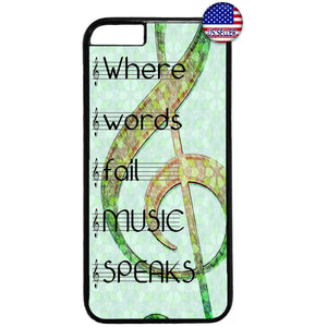 Music Speaks Clef Treble Rubber Case Cover For Iphone
