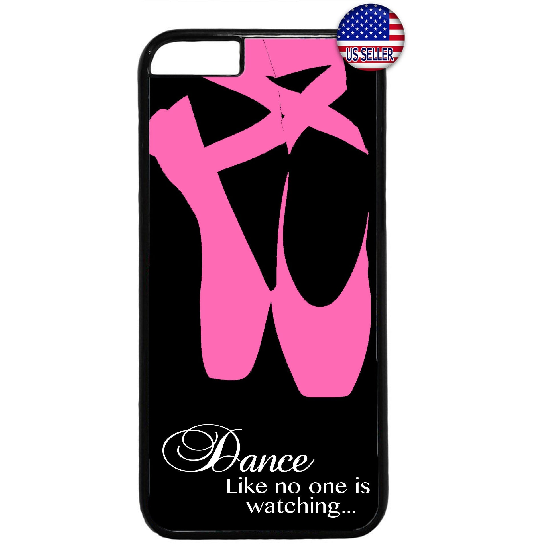 Ballerina Dance Shoes Ballet Dancer Rubber Case Cover For Iphone