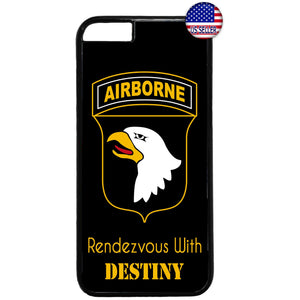 Army US Airborne Destiny Military Force Rubber Case Cover For Iphone