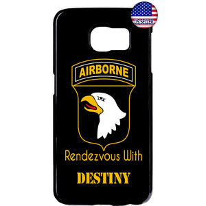 Army US Airborne Destiny Military Force Rubber Case Cover For Samsung Galaxy