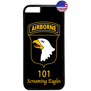US Airborne 101 Eagles Military Force Rubber Case Cover For Iphone