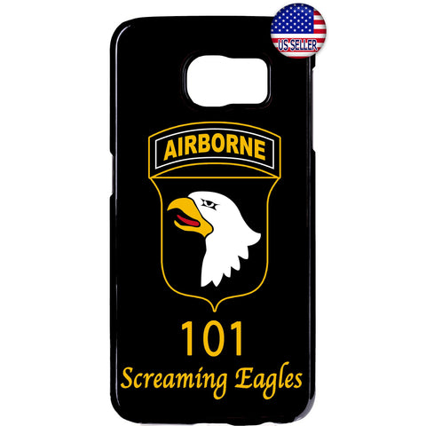 US Airborne 101 Eagles Military Force Rubber Case Cover For Samsung Galaxy