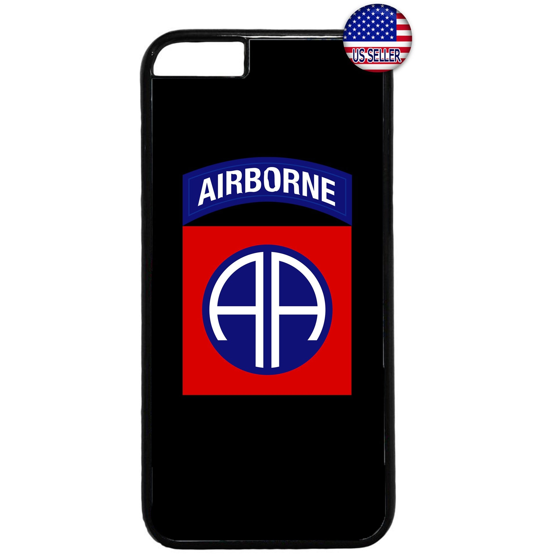 82nd US Airborne Destiny Military Force Rubber Case Cover For Iphone