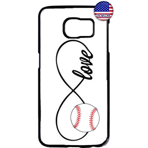 White Infinite Forever Baseball Sports Rubber Case Cover For Samsung Galaxy