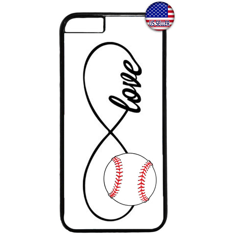 White Infinite Forever Baseball Sports Rubber Case Cover For Iphone