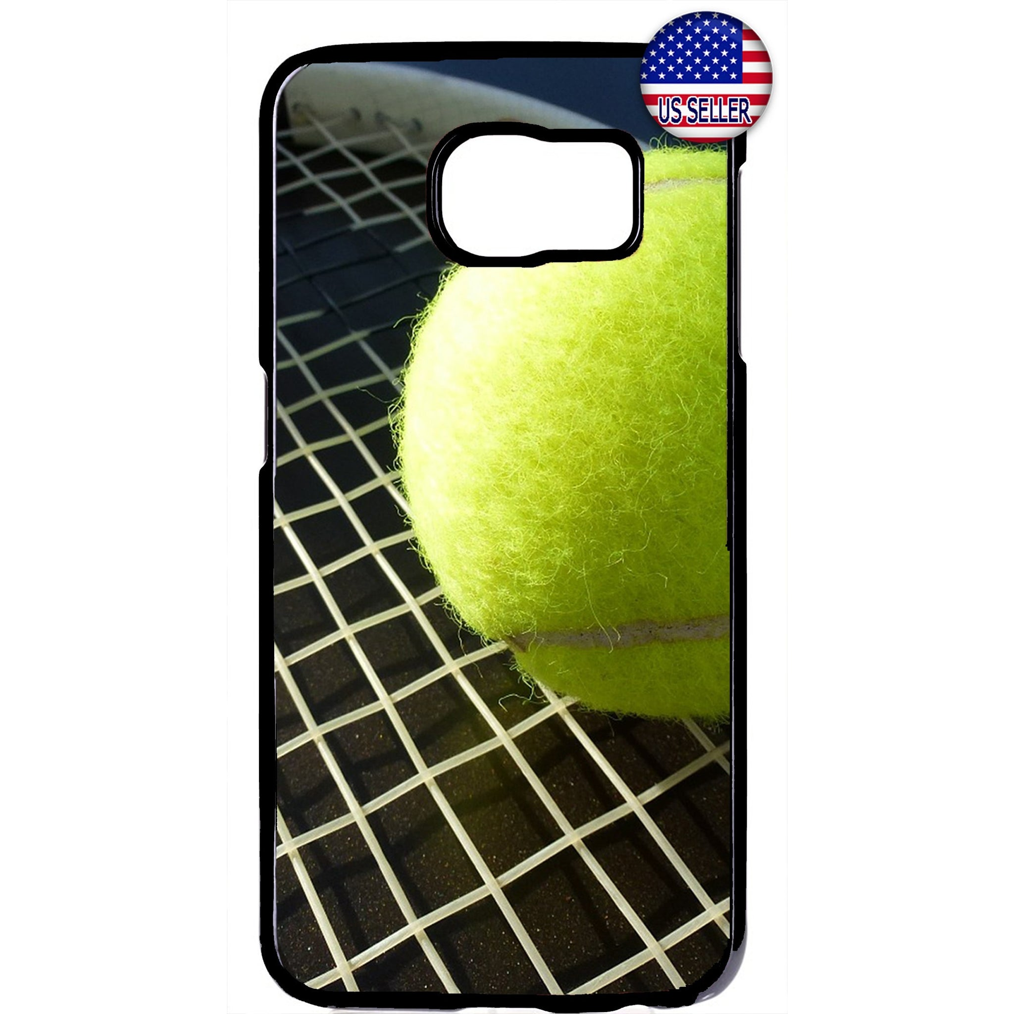 Tennis Ball & Racket Sports Rubber Case Cover For Samsung Galaxy Note