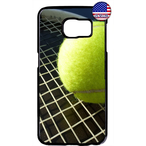 Tennis Ball & Racket Sports Rubber Case Cover For Samsung Galaxy