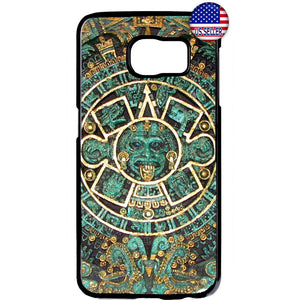 Mayan Aztec Calendar Mexican Native Rubber Case Cover For Samsung Galaxy