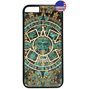 Mayan Aztec Calendar Mexican Native Rubber Case Cover For Iphone
