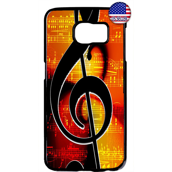 Musical Clef Note Classic Rubber Case Cover For Samsung Galaxy