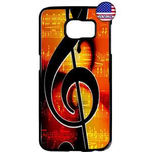 Musical Clef Note Classic Rubber Case Cover For Samsung Galaxy Note