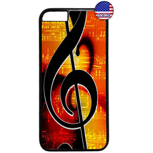 Musical Clef Note Classic Rubber Case Cover For Iphone