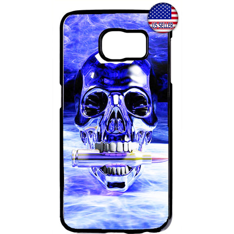 Grim Reaper Skull Bullet Blue Fire Rubber Case Cover For Samsung Galaxy Note