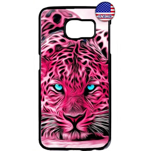 Pink Leopard Cat Print Rubber Case Cover For Samsung Galaxy