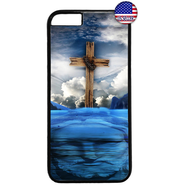 Cross Jesus Christ Heaven Christian Rubber Case Cover For Iphone