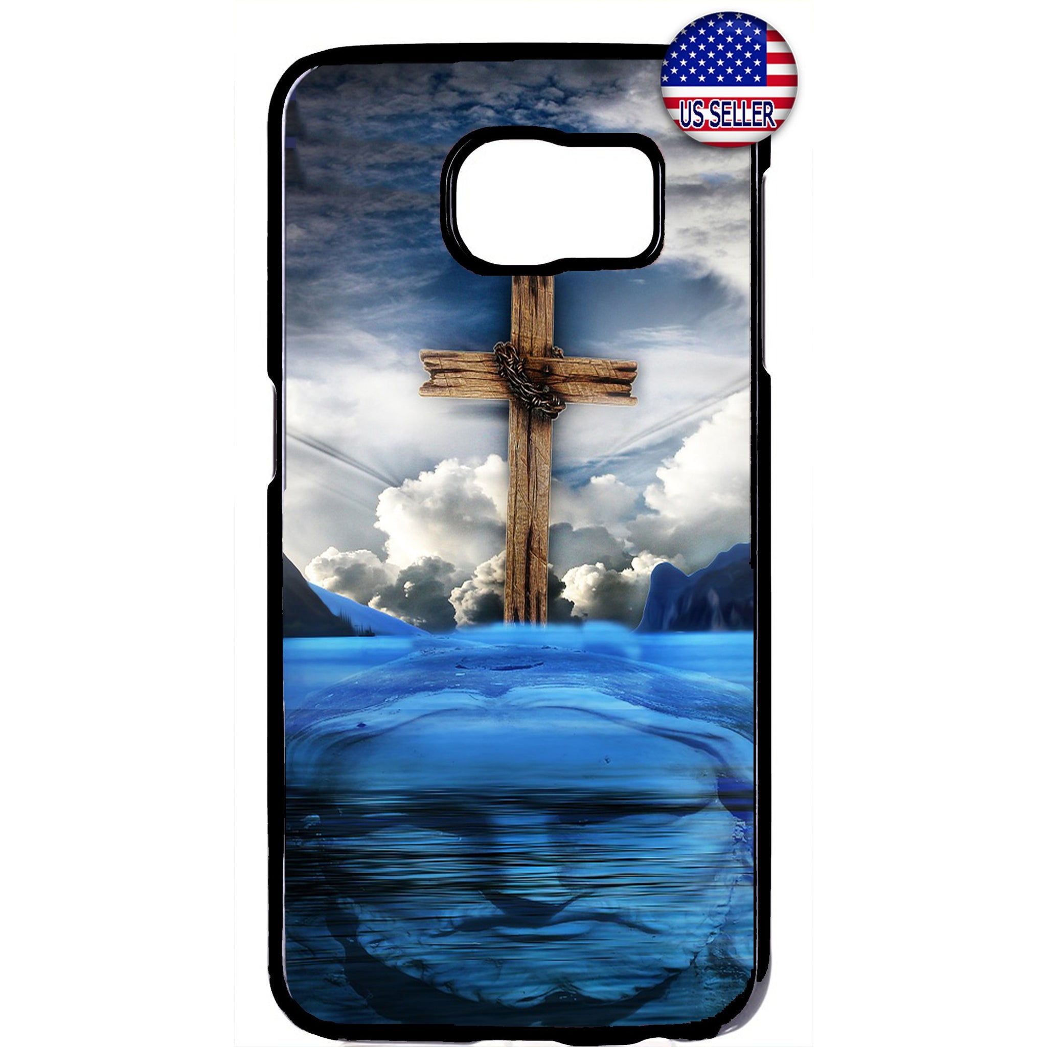 Cross Jesus Christ Heaven Christian Rubber Case Cover For Samsung Galaxy