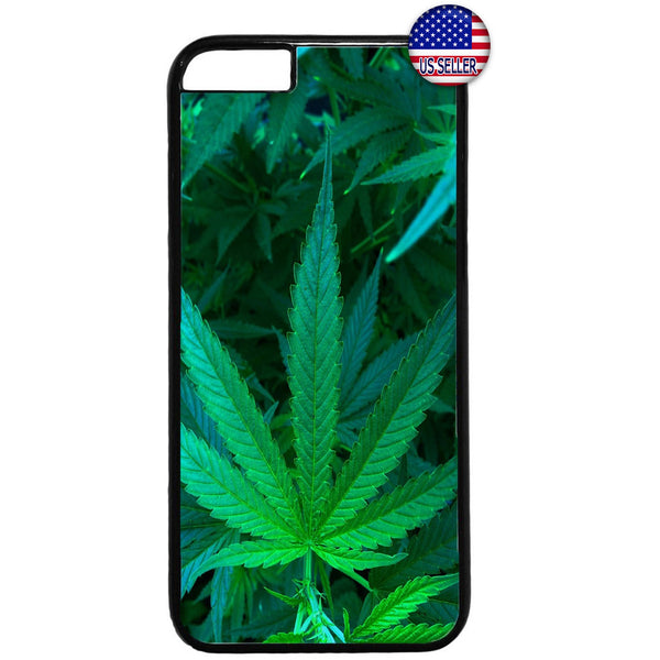 Marijuana Weed Plant Pot Smoking Rubber Case Cover For Iphone