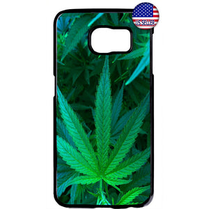 Marijuana Weed Plant Pot Smoking Rubber Case Cover For Samsung Galaxy