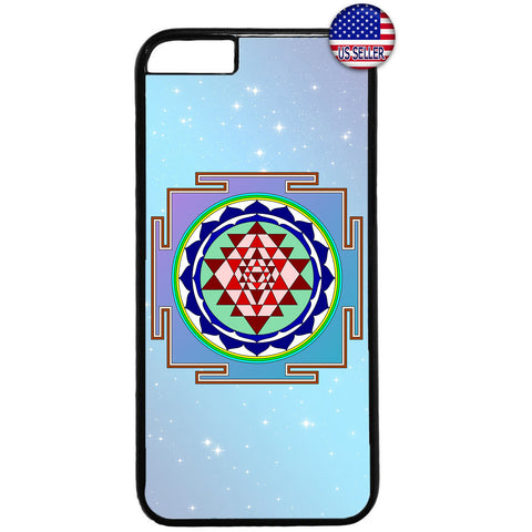 Sri Yantra Chakra Hindu Rubber Case Cover For Iphone
