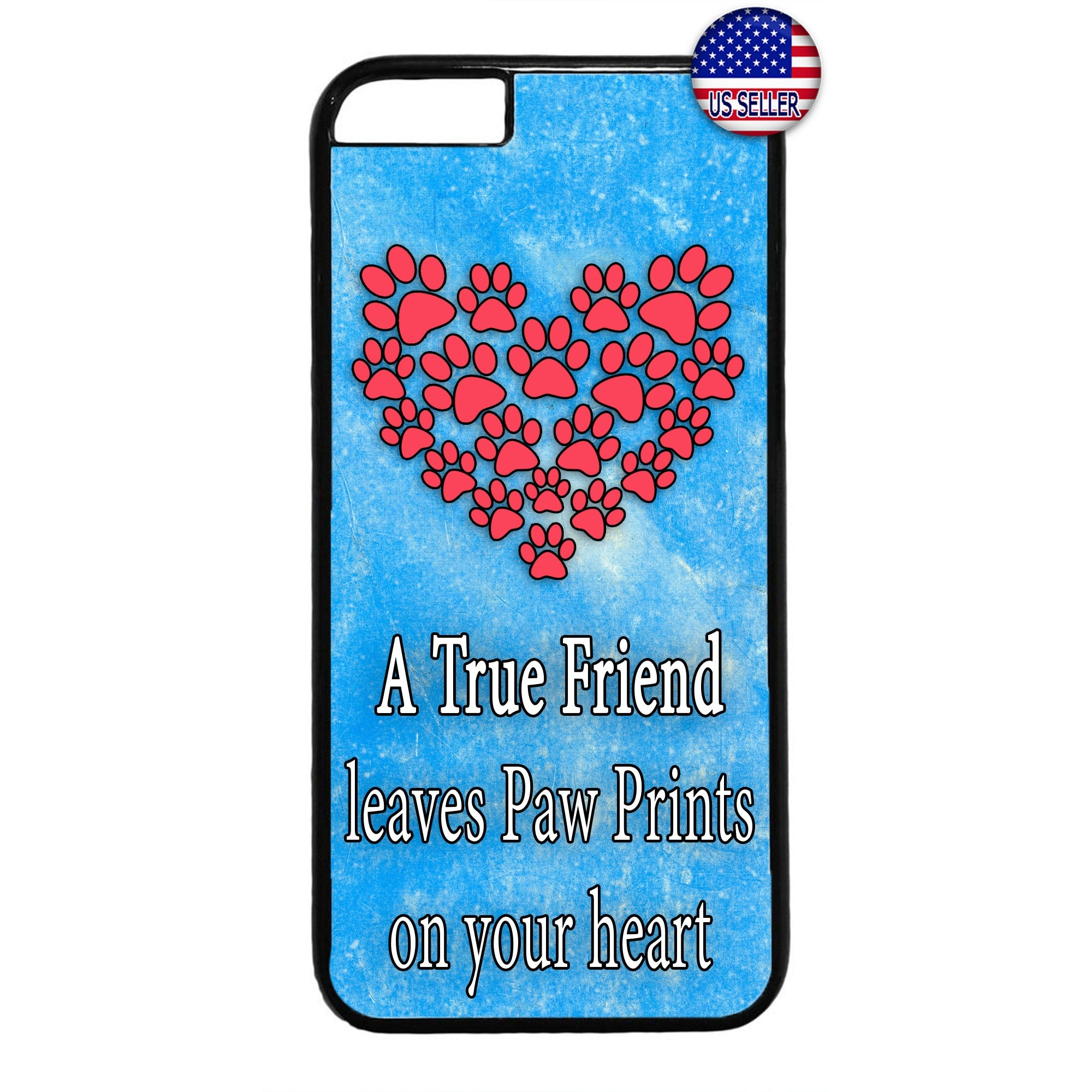 I Love My Pet Friend Paws Cats & Dogs Rubber Case Cover For Iphone