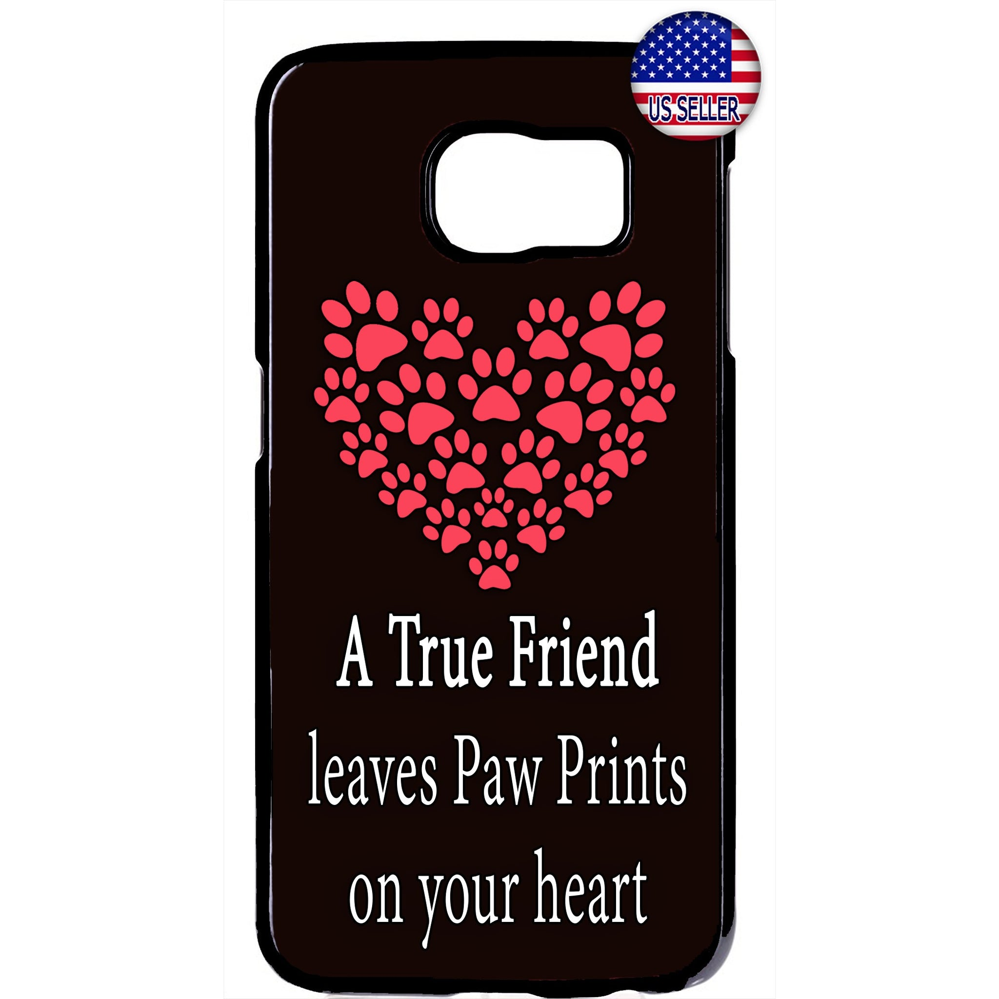 Paws I Love My Pet Friend Rubber Case Cover For Samsung Galaxy