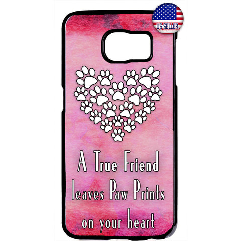 Paws I Love My Pet Pink Cats & Dogs Rubber Case Cover For Samsung Galaxy