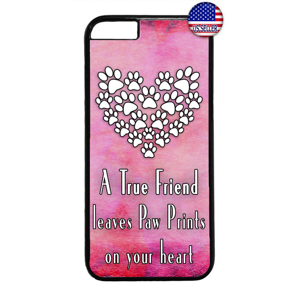 Paws I Love My Pet Pink Cats & Dogs Rubber Case Cover For Iphone