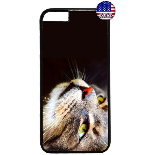 Cute Cat Face Kitty Kitten Pet Rubber Case Cover For Iphone