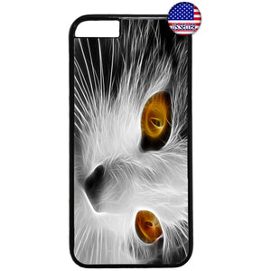 Pet Cute Cat Face Kitty Kitten Rubber Case Cover For Iphone
