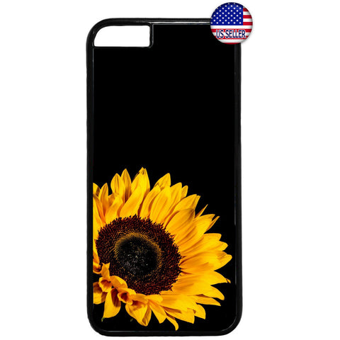 Sunflower Yellow Black Garden Rubber Case Cover For Iphone