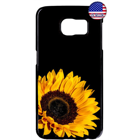 Sunflower Yellow Black Garden Rubber Case Cover For Samsung Galaxy Note