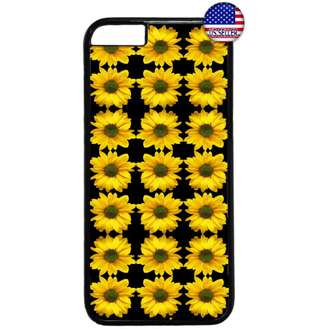 Sunflowers Pattern Life Garden Rubber Case Cover For Iphone