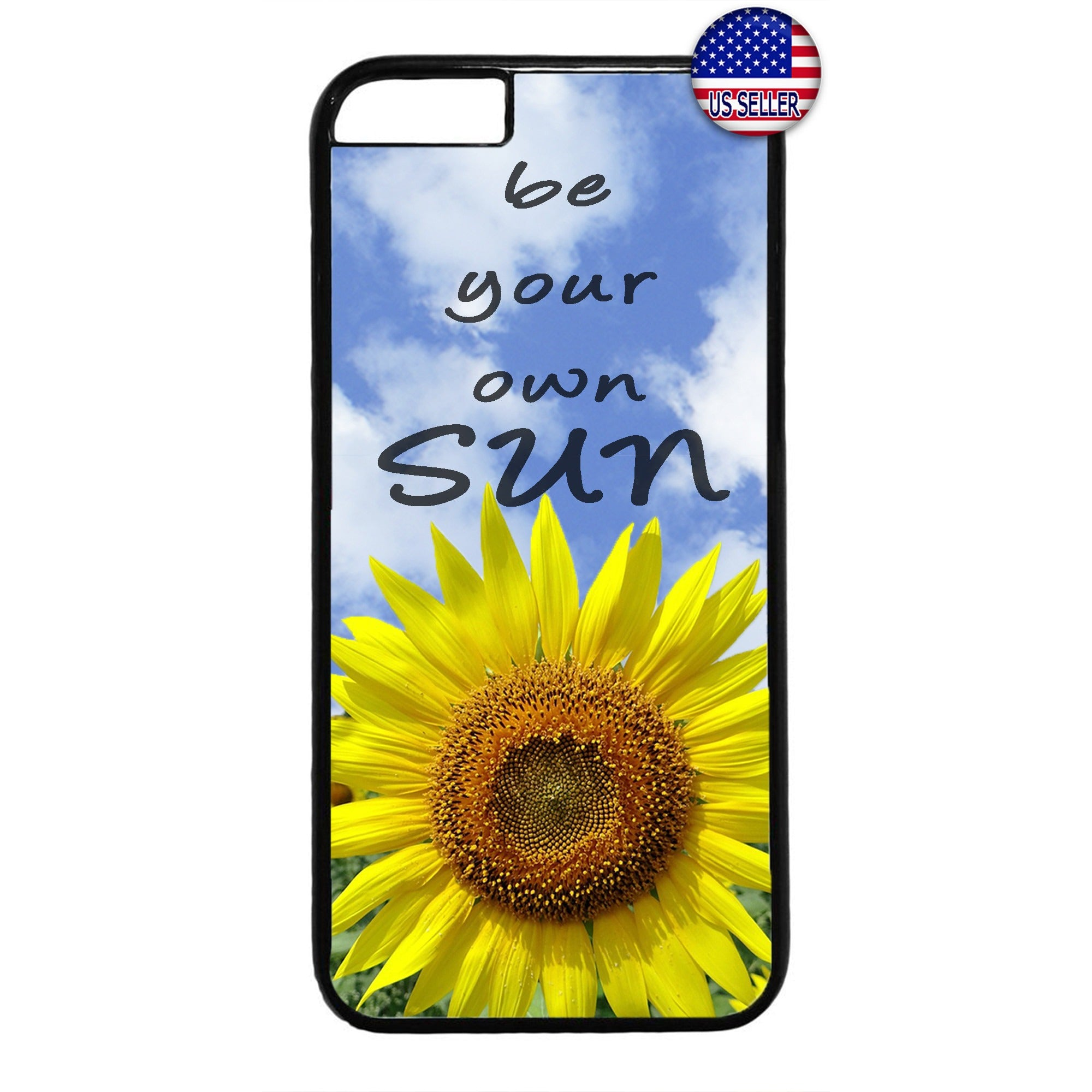 Be your Own Sun Flower Garden Rubber Case Cover For Iphone