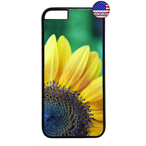 Blue Yellow Sunflower Garden Rubber Case Cover For Iphone