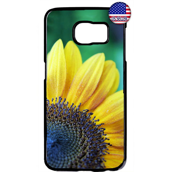 Blue Yellow Sunflower Garden Rubber Case Cover For Samsung Galaxy