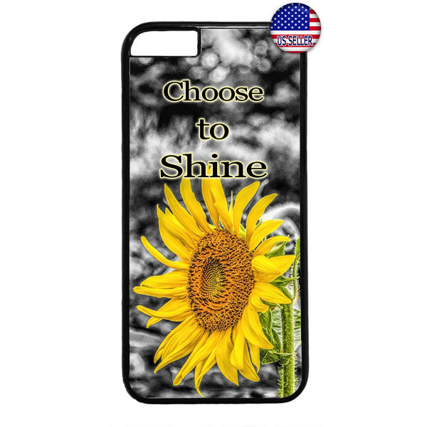 Shine Like Sunflower Garden Rubber Case Cover For Iphone