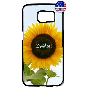 Smile Like A Sunflower Garden Rubber Case Cover For Samsung Galaxy