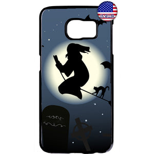 Witch Halloween Night Rubber Case Cover For Samsung Galaxy